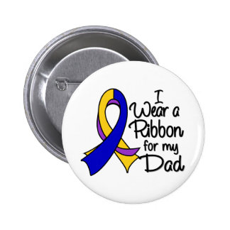 Dad - Bladder Cancer Ribbon Pinback Button