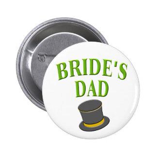 dad-bride-tophat pinback button