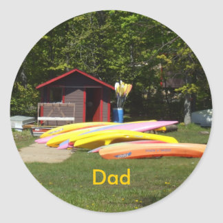Dad-canoes Classic Round Sticker