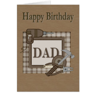 Dad Carpenter Birthday Card