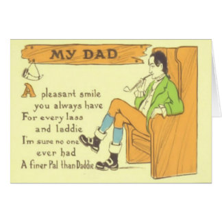 Dad Chair Pipe Vintage Father's Day Card