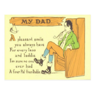 Dad Chair Pipe Vintage Father's Day Postcard