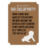 Dad-chelor, Dadchelor, Party Invitation, Manly Man 5x7 Paper Invitation Card
