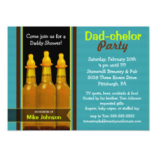 Daddy shower invitations zazzle dad chelor party daddy baby shower invitations filmwisefo