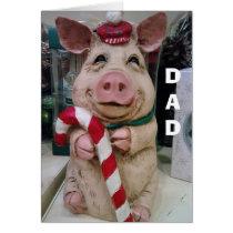 DAD=CHRISTMAS PIGGY-NO MARKET-JUST CHRISTMAS WISH CARD