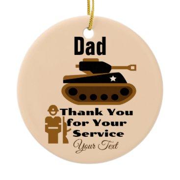Dad Circle Ornament Hang Year Around