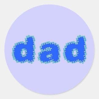 Dad Classic Round Sticker