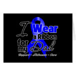 Dad - Colon Cancer Ribbon Greeting Cards