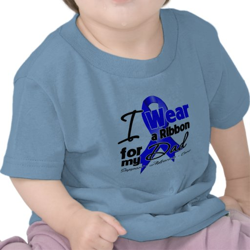 Dad - Colon Cancer Ribbon Tee Shirt