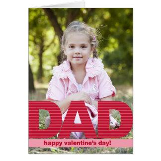 DAD Custom Valentine's Day Photo Card