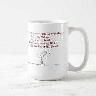dad dean classic white coffee mug