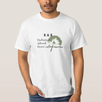Dad Dedicated Adored Father's Day Tee Shirt
