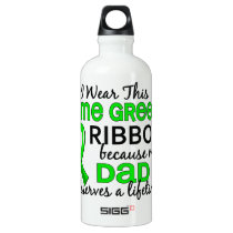 Dad Deserves Lifetime Lymphoma Aluminum Water Bottle