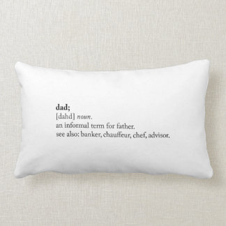Dad - Dictionary Definition Pillow