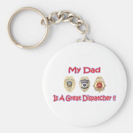 Dad Dispatcher keychain
