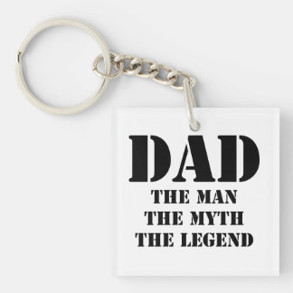 Dad Double-Sided Square Acrylic Keychain