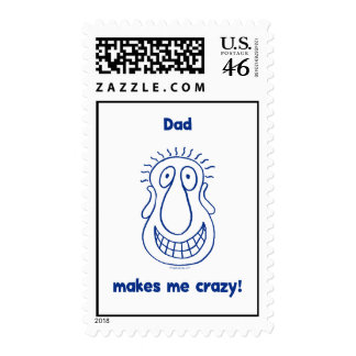 Dad Drives Me Crazy Stamp