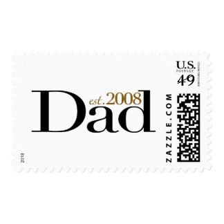 Dad Est 2008 Postage Stamps