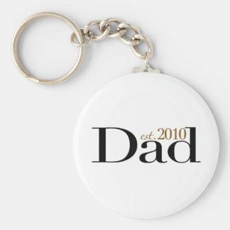 Dad Est 2010 Keychain