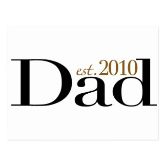 Dad Est 2010 Postcard