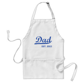 DAD EST. 2013 NEW DADDY BABY FATHER'S DAY GIFT ADULT APRON