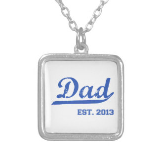 DAD EST. 2013 NEW DADDY BABY FATHER'S DAY GIFT CUSTOM NECKLACE