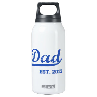 DAD EST. 2013 NEW DADDY BABY FATHER'S DAY INSULATED WATER BOTTLE
