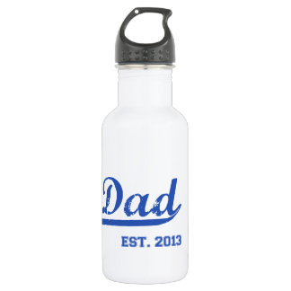DAD EST. 2013 NEW DADDY BABY FATHER'S DAY WATER BOTTLE