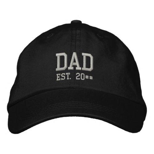 Dad Est. Embroidered Baseball Cap