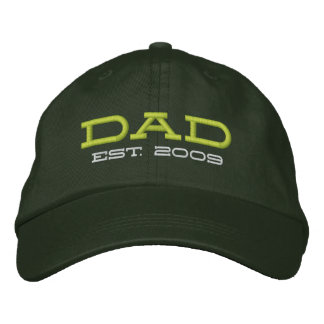 Dad Established 2009 (customizable) Embroidered Baseball Cap