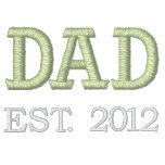 Dad Established 2012 (customizable) Embroidered Hooded Sweatshirts