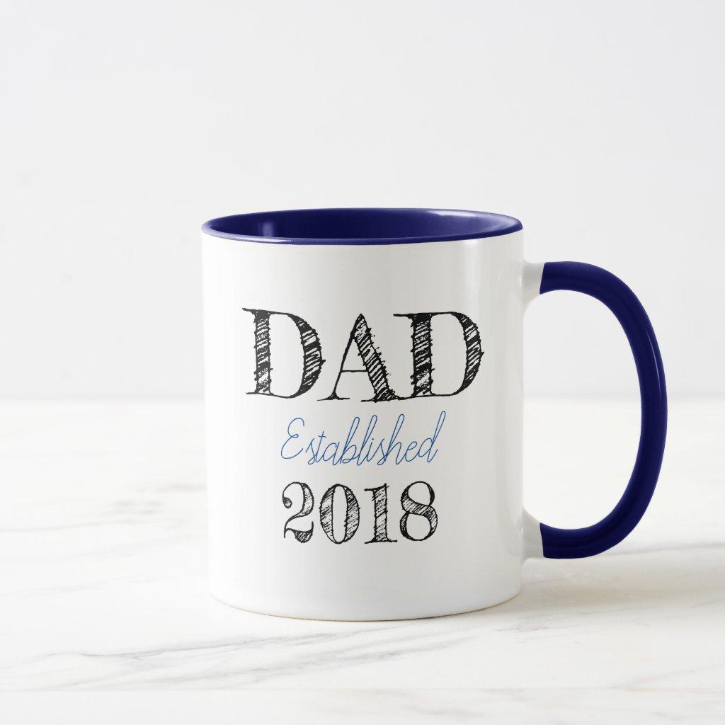 DAD Established 2018 customizable Mug