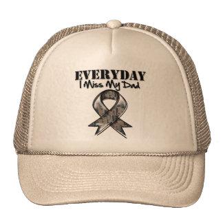 Dad - Everyday I Miss My Hero Military Trucker Hats