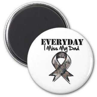 Dad - Everyday I Miss My Hero Military 2 Inch Round Magnet