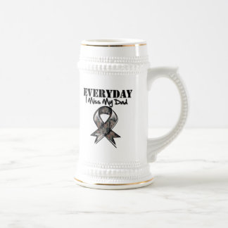 Dad - Everyday I Miss My Hero Military 18 Oz Beer Stein