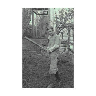 Dad Father Baseball Bat Photography Vintage Father Canvas Print