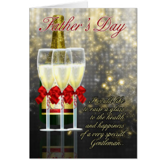 Dad - Father's Day Card - Champagne Toast