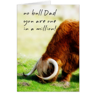 Dad - Father's Day Card - Scottish Longhorn Bull