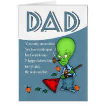 Dad, Father's Day Humorous Alien Card