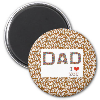 DAD Father's Day : TEXT n Elegant BASE LOWPRICES Refrigerator Magnet