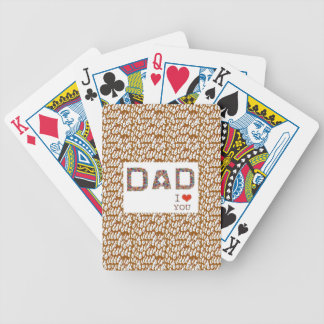 DAD Father's Day : TEXT n Elegant BASE LOWPRICES Bicycle Card Decks