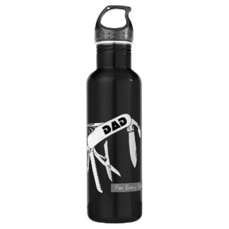 Dad For Every Situation Aluminum 24oz Water Bottle