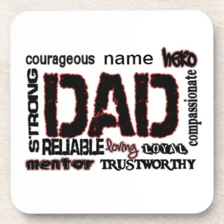 Dad Gift Add Name to text Father Coaster