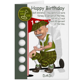 Dad Golfer Birthday Greeting Card With Humor