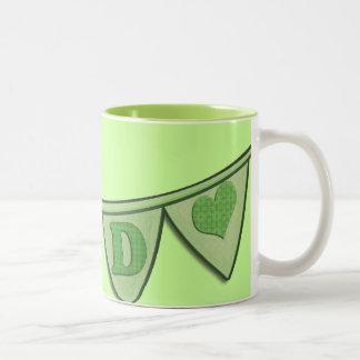 Dad Green Pennant Banner Mug