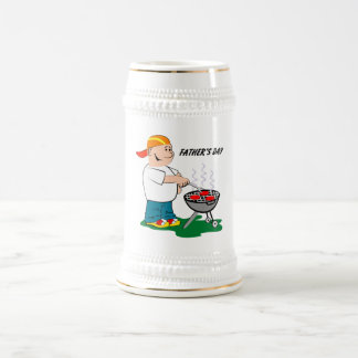 Dad Grilling - Beer Stein