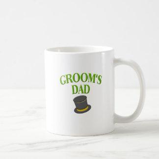 dad -groom- top hat classic white coffee mug