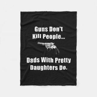 Dad Gun Fleece Blanket