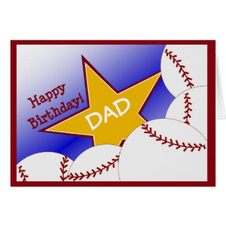 Dad - Happy Birthday Baseball Loving Dad! Card