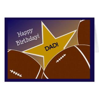 Dad - Happy Birthday Football Loving Father Card